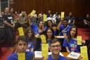 Aluno Vinycius, da escola Dr. Alcides Mosconi, representou Andradas na Plenária Estadual do PJ 2019 (1).jpeg