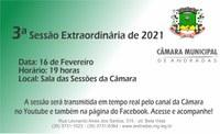 3ª Sessão Extraordinária de 2021