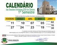 Calendário de reuniões ordinárias de 2020