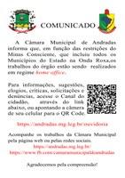 Câmara adota sistema home office em cumprimento ao decreto do Governo de Minas