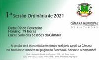 Pauta da 1ª Sessão Ordinária de 2021
